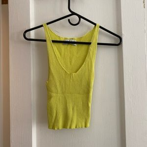 Urban outfitters lime green tank